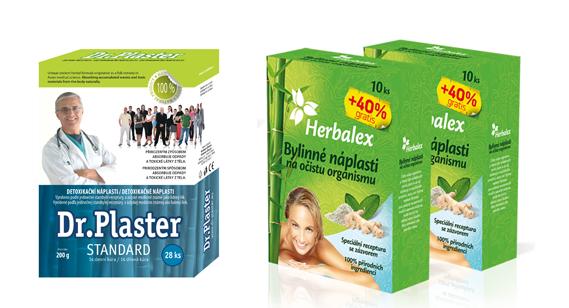 Detoxikačné náplaste drplaster a herbalex