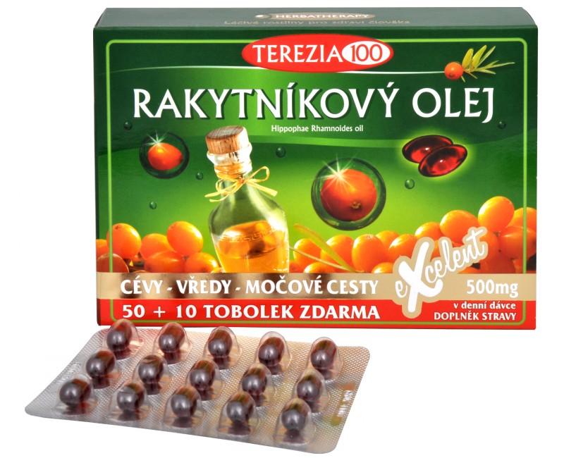 rakytníkový olej v kapsuliach