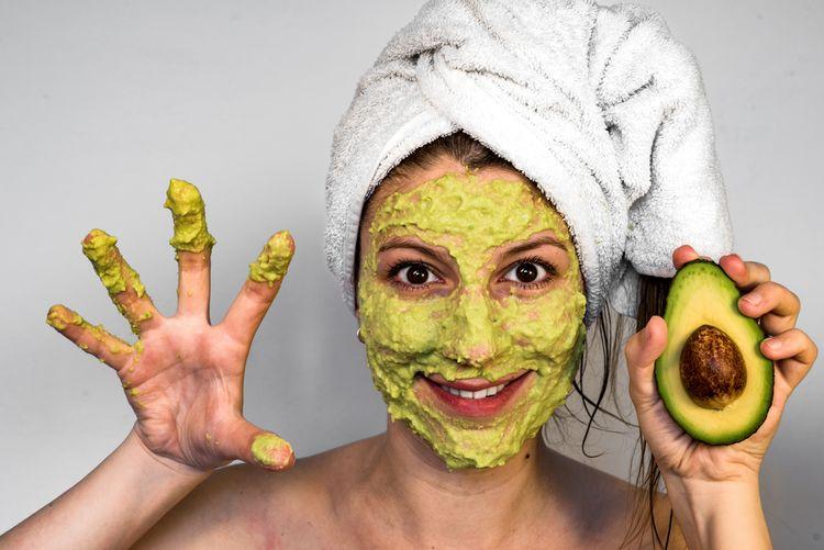 avokádová maska na vrásky