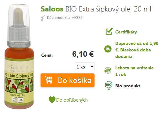 cena šíkového oleja saloos