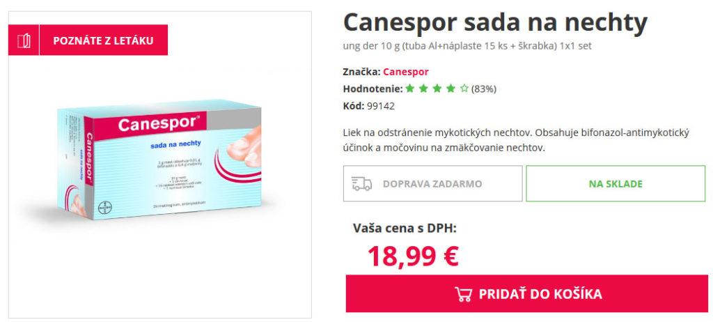 canespor cena v lekárni drmax