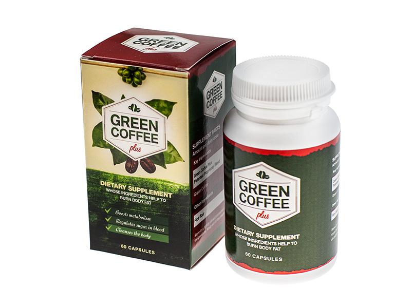 Green coffe plus - zelená káva v kapsuliach