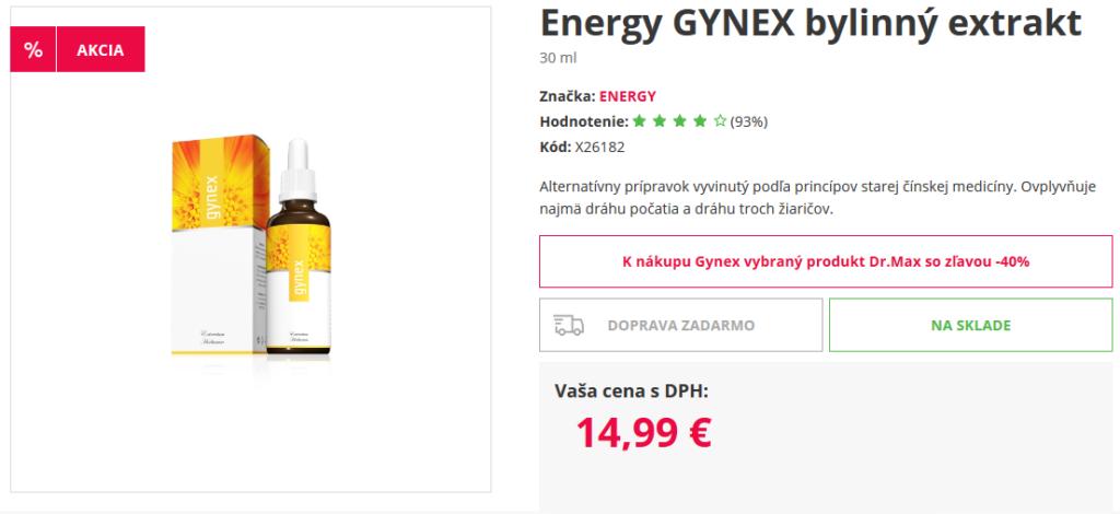 gynex energy cena v dr max