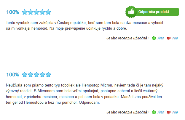 hemostop skúsenosti a recenzie na heureka.sk