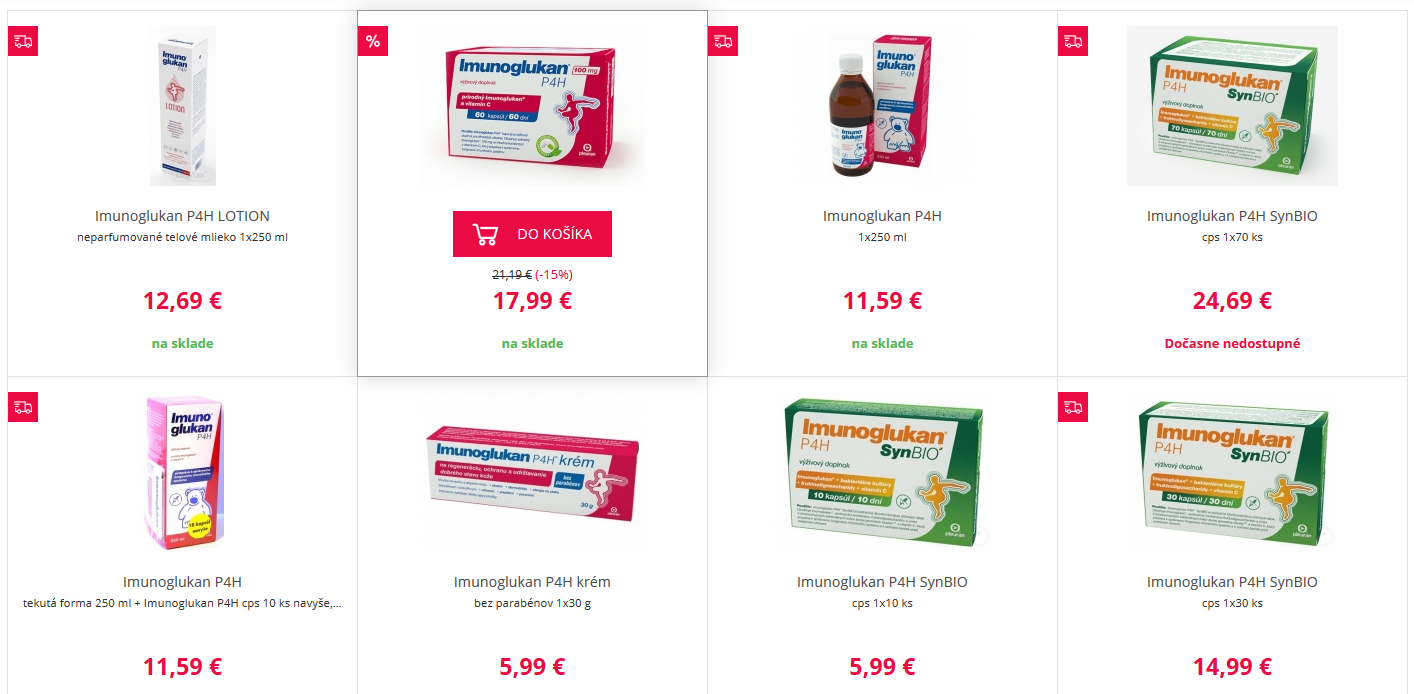imunoglukan cena lekáreň drmax