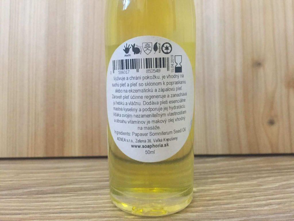 makový olej účinky