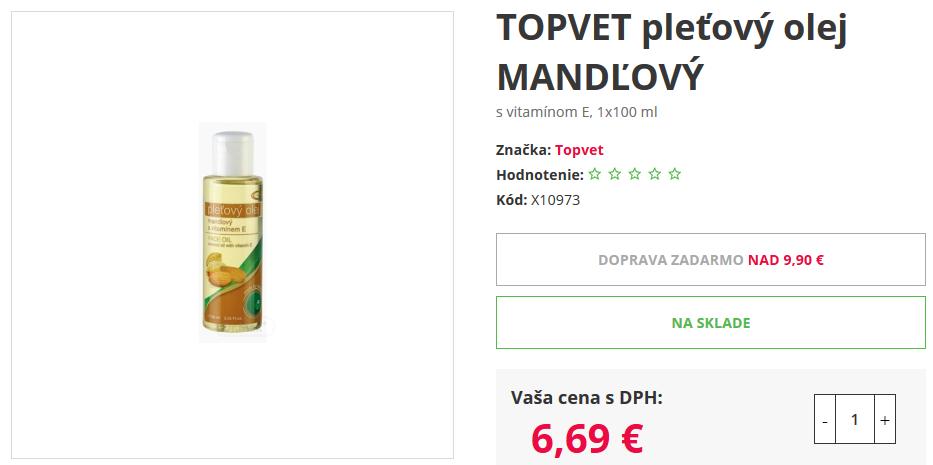 mandlový olej drmax lekáreň