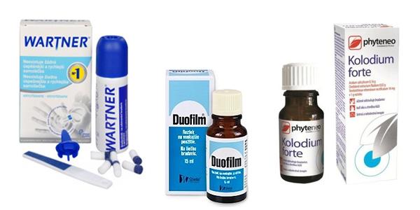 prípravky na bradavice z lekárne