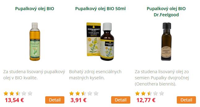 pupalkové oleje biocare