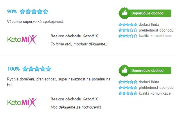 Ketomix recenzie na Heureka.sk
