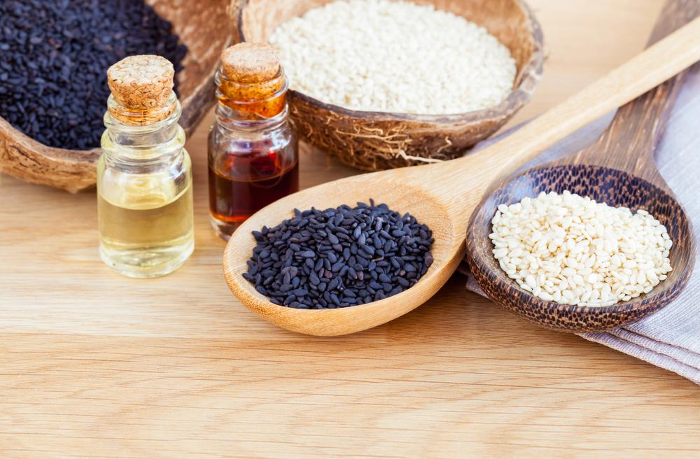 sezamový olej na nechty, vlasy, pleť