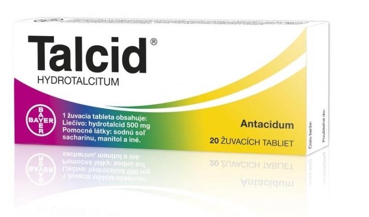 talcid na žalúdočnú kyselinu