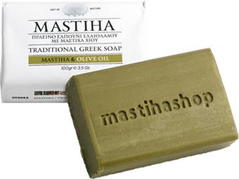 mydlo s mastichou a olivovým olejom