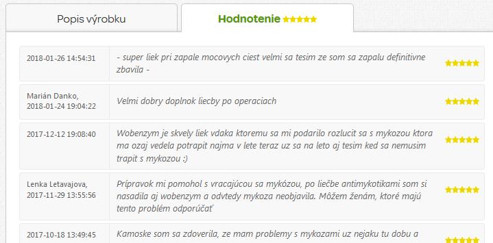 wobenzym recenzie na pilulka.sk
