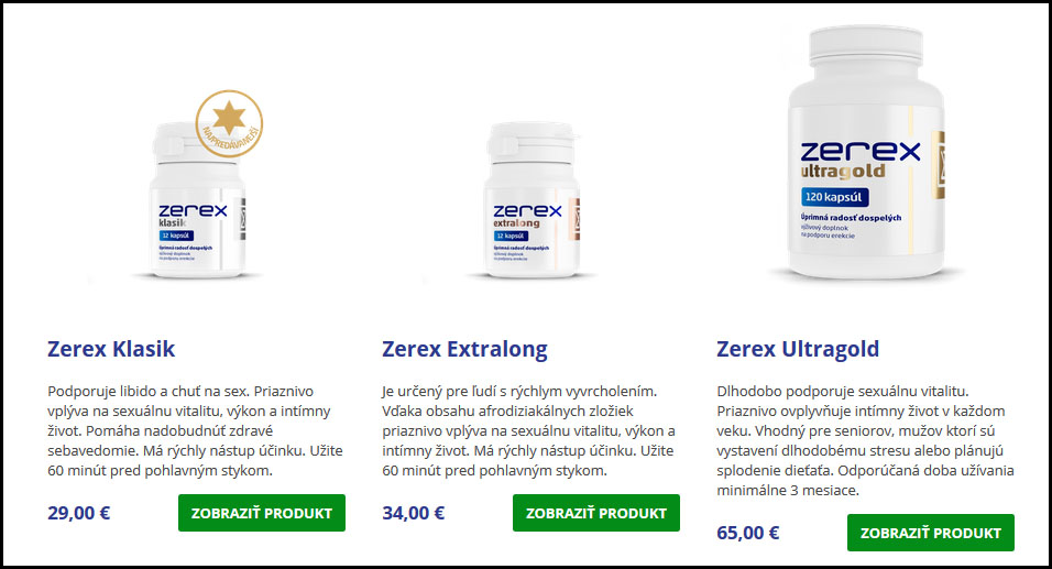 Zerex cena